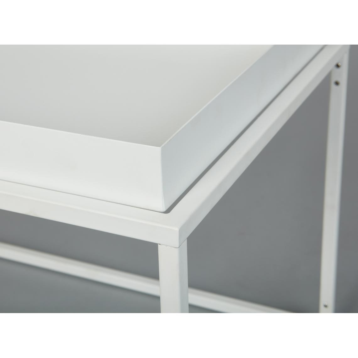 table basse empilable en metal laque