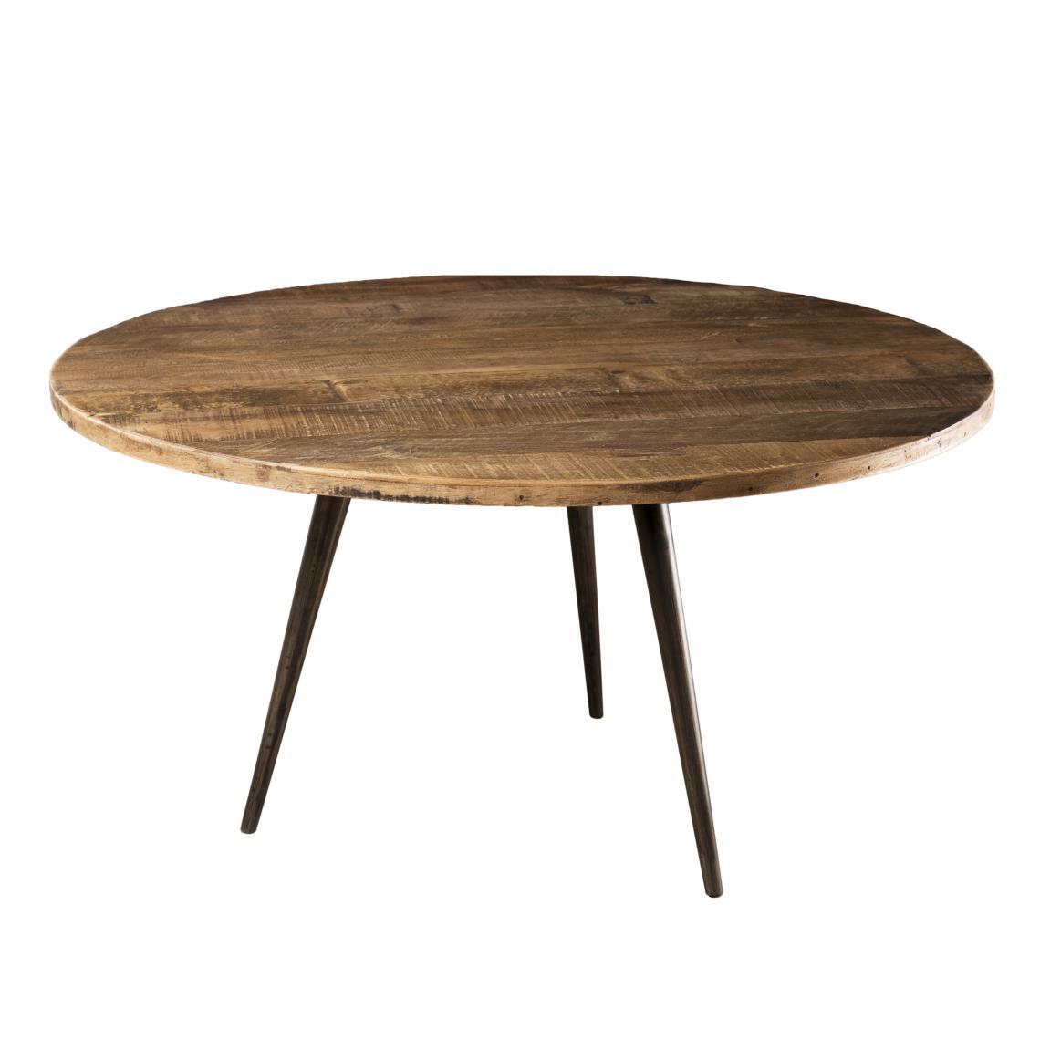 table basse ronde 75cm bois de teck