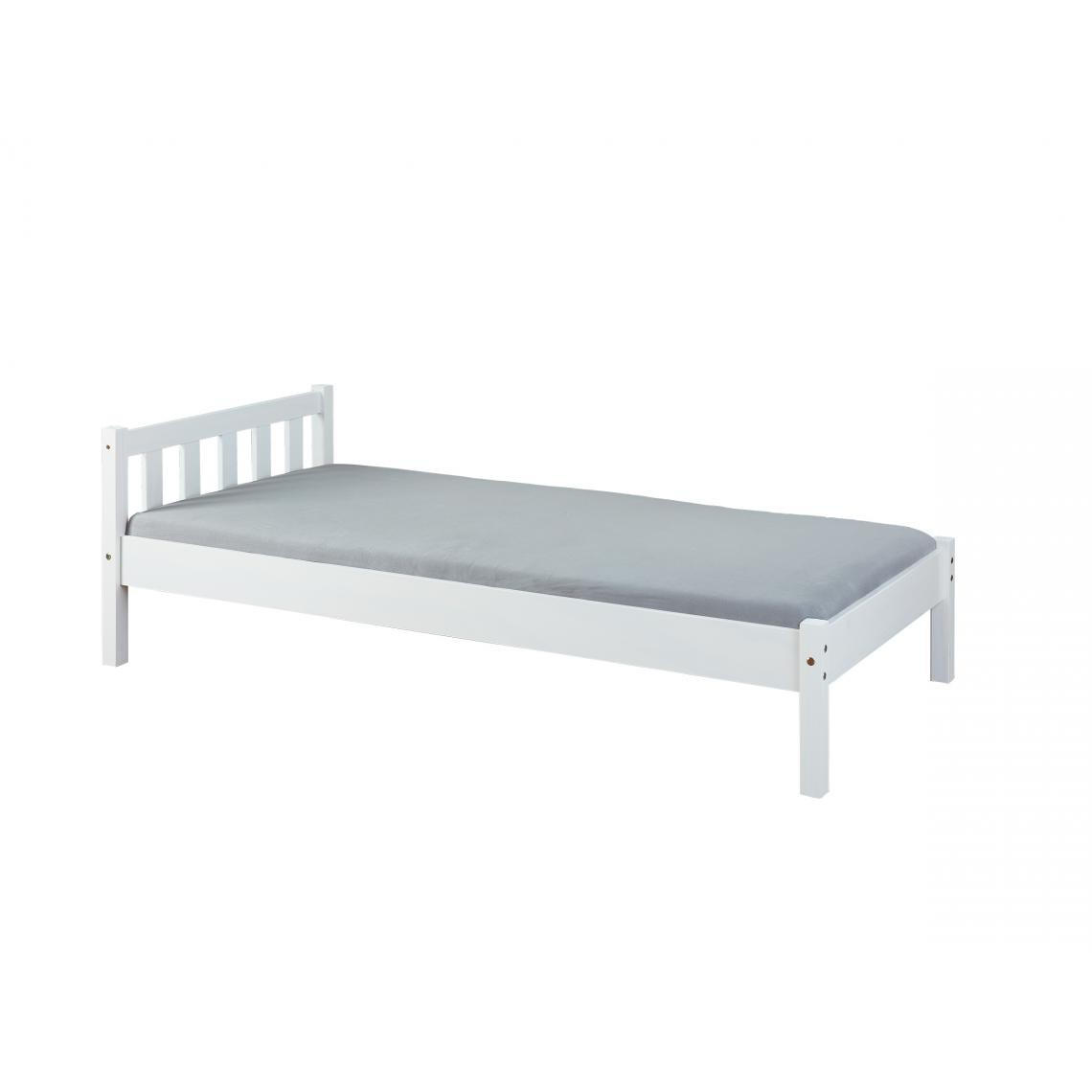 lit simple 90x200 blanc vilmar
