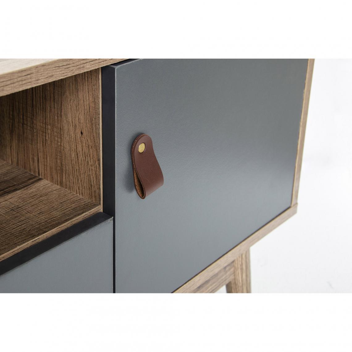 meuble tv bois et gris leather meuble