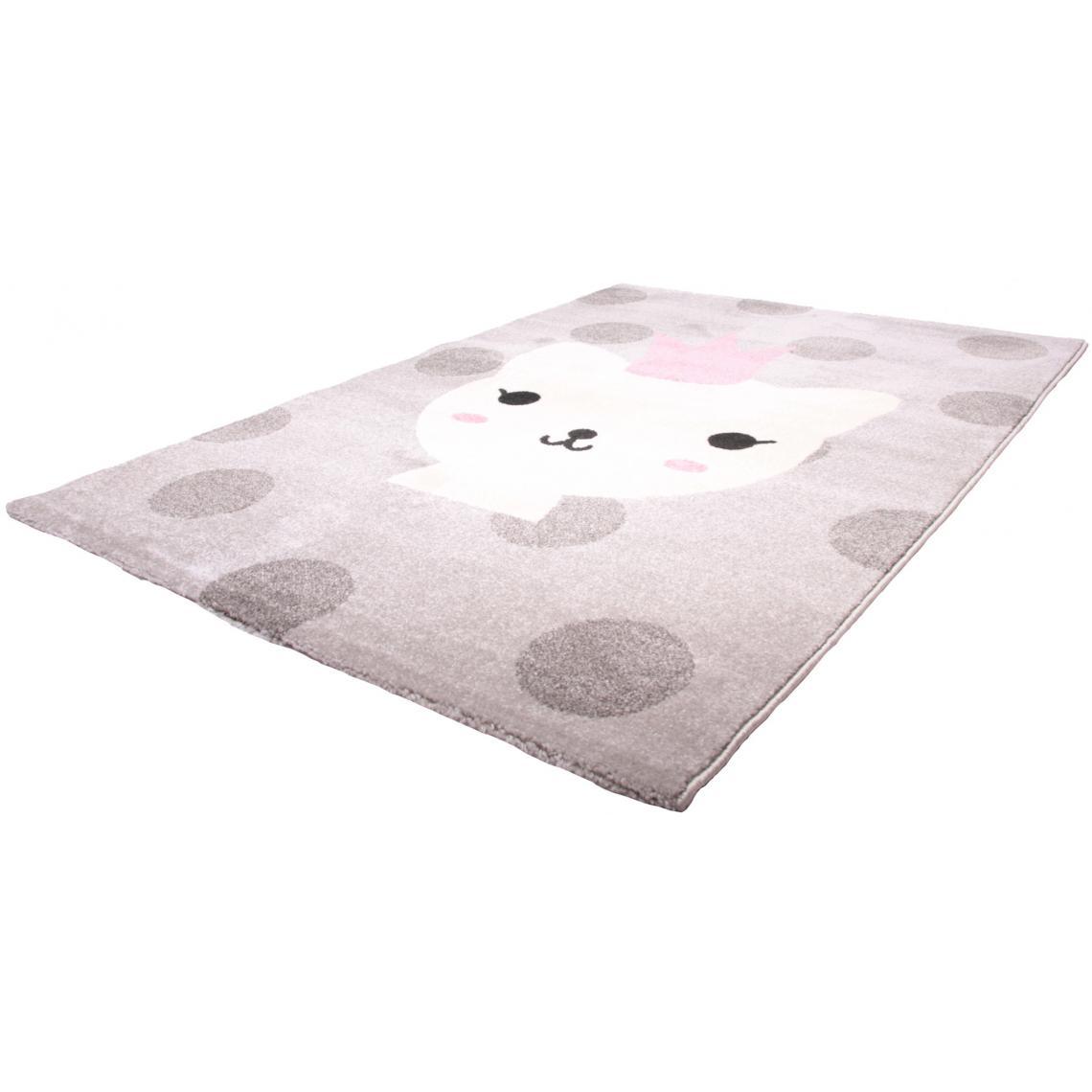 tapis enfant princesse chat 120x170cm lanna