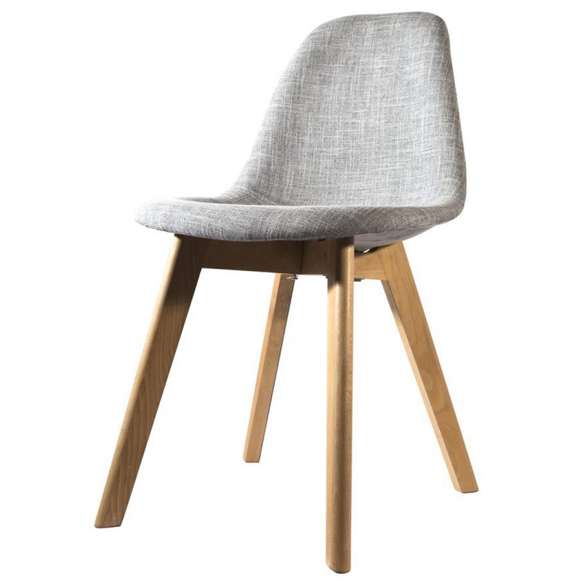 chaise scandinave en tissu grise fjord