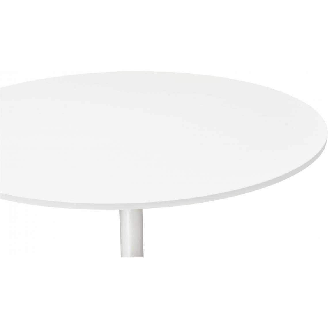 table ronde avec plateau en bois blanc