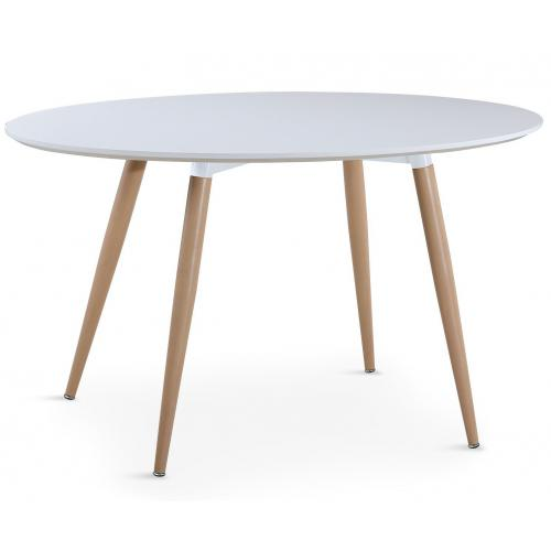 table ovale scandinave blanche wael