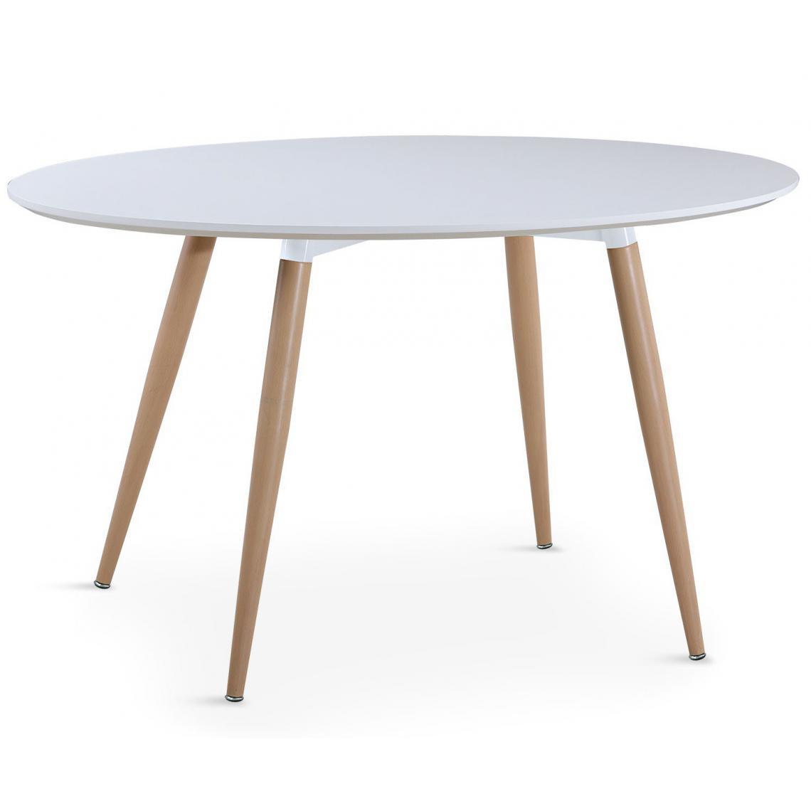 table ovale scandinave blanche wael