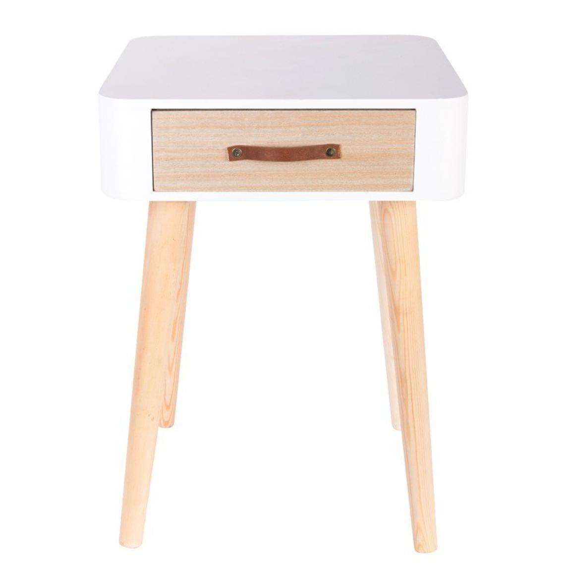 table de chevet blanche en bois rukia