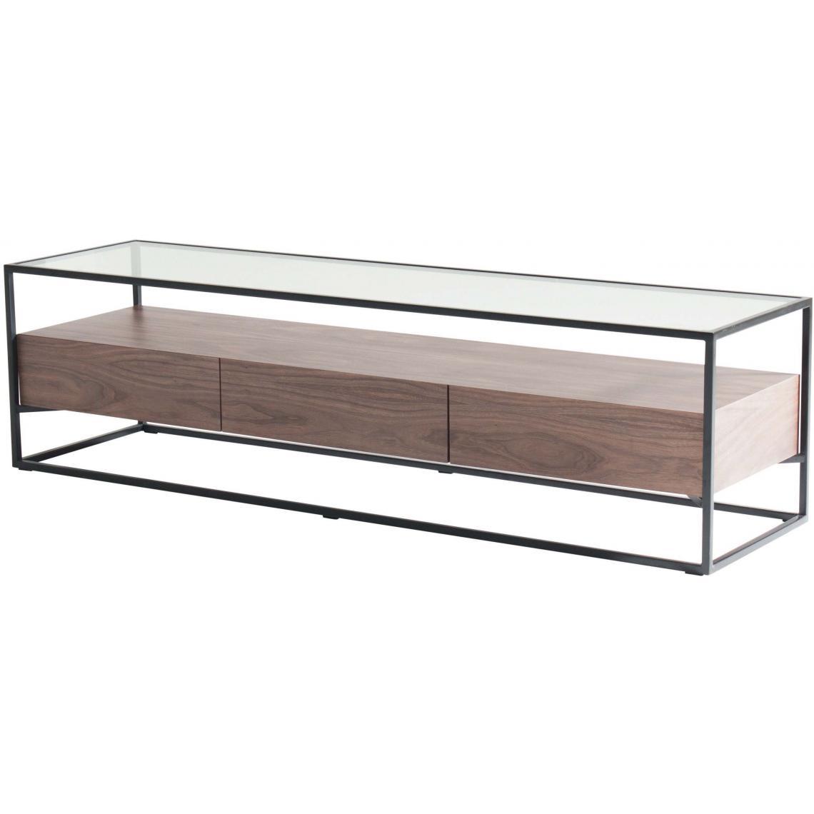 meuble tv en bois et verre goza