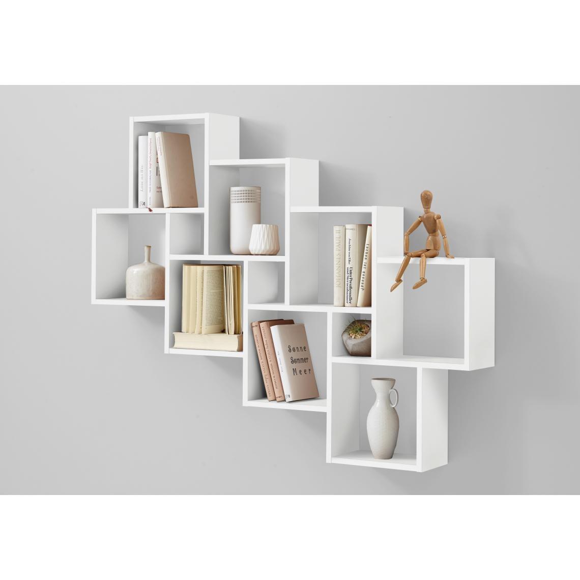 etagere murale blanc brillant slack