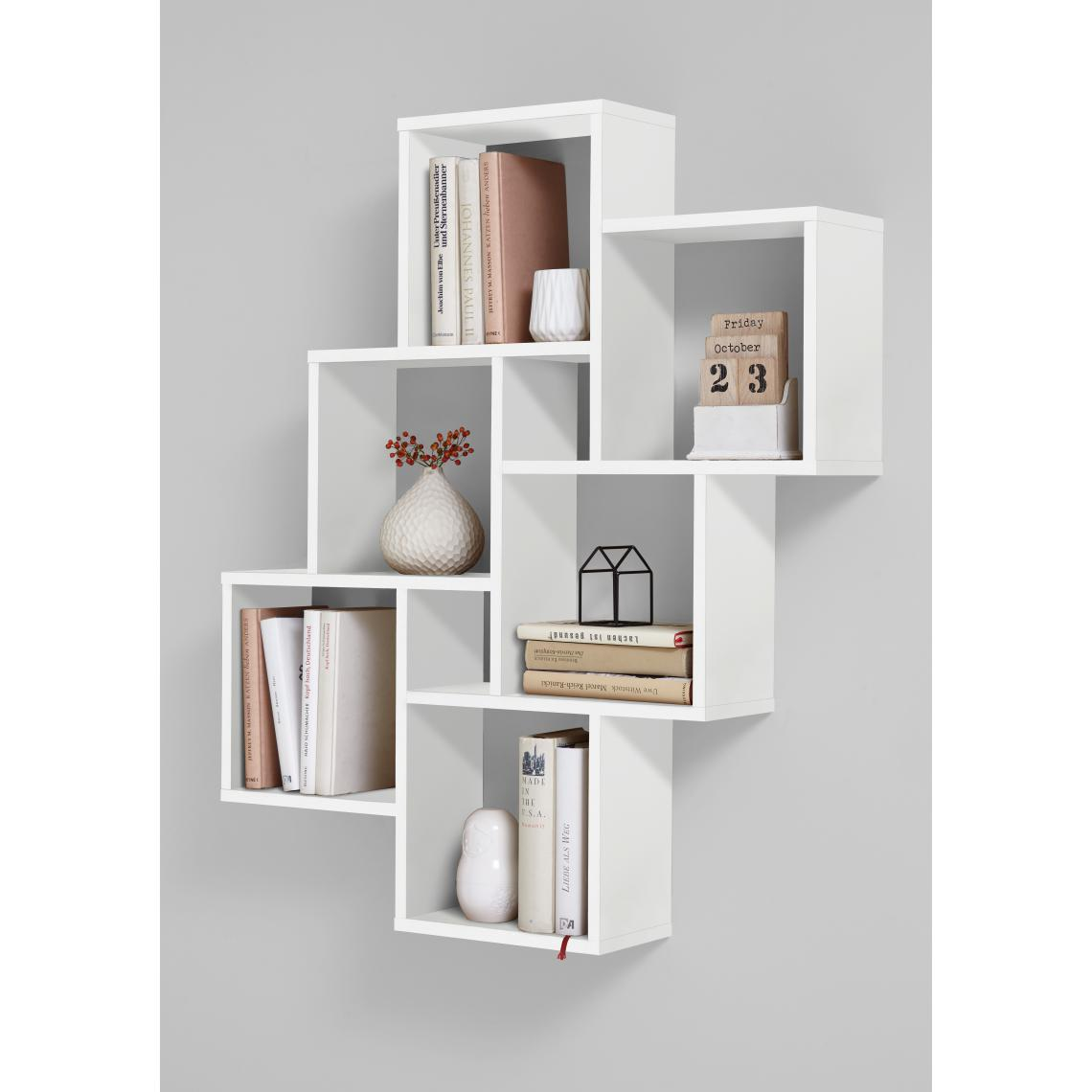 etagere murale blanc brillant turn
