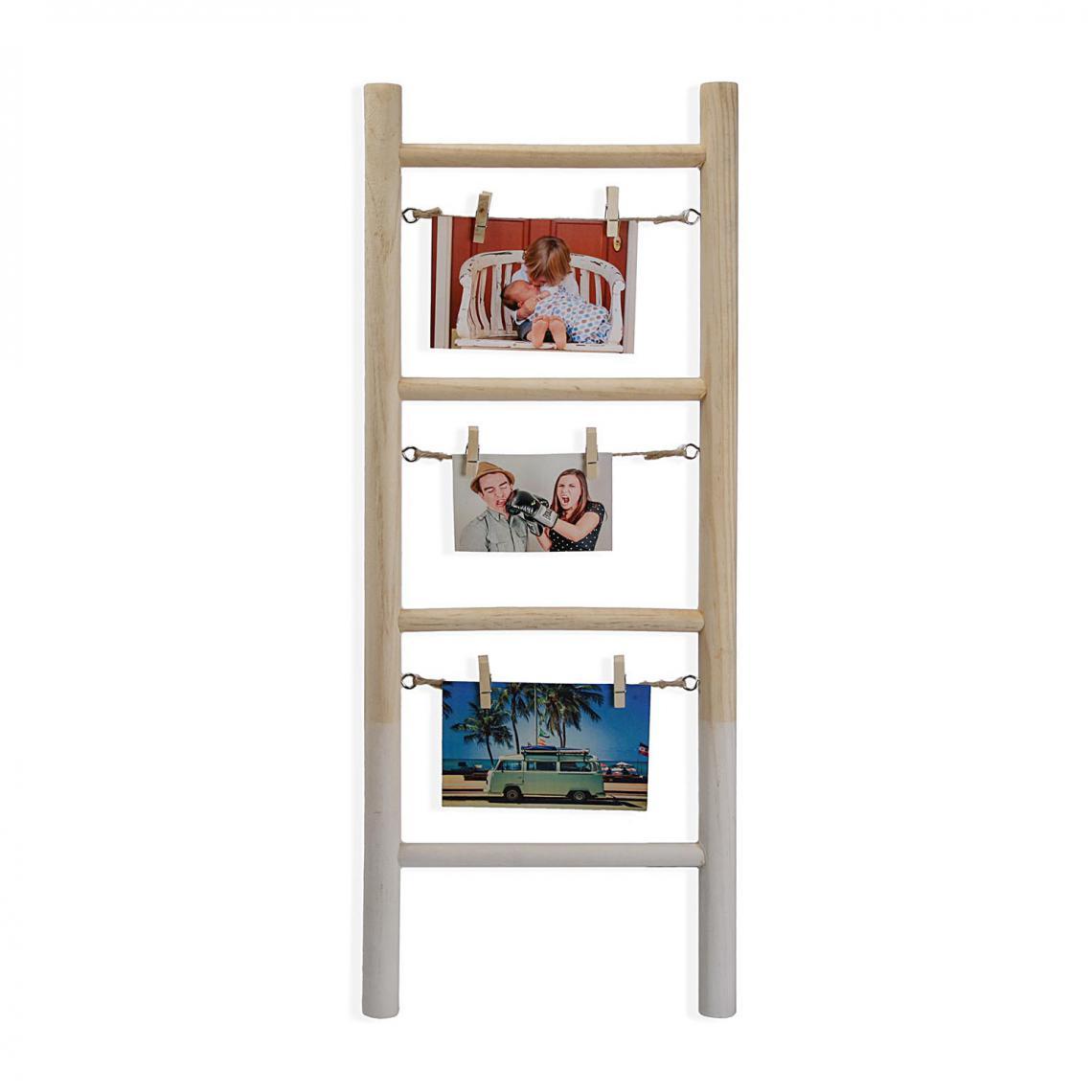 echelle 3 cadres photo en bois hector