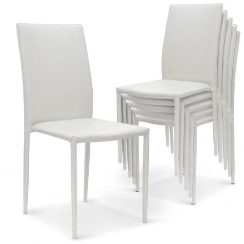 lot de 6 chaises empilables blanc praia