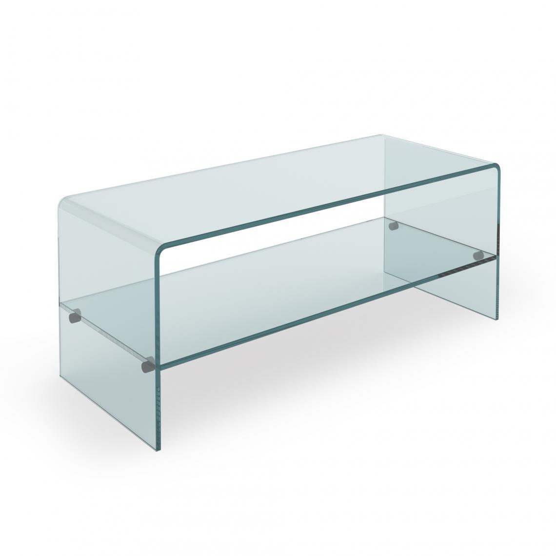 table basse verre glassy