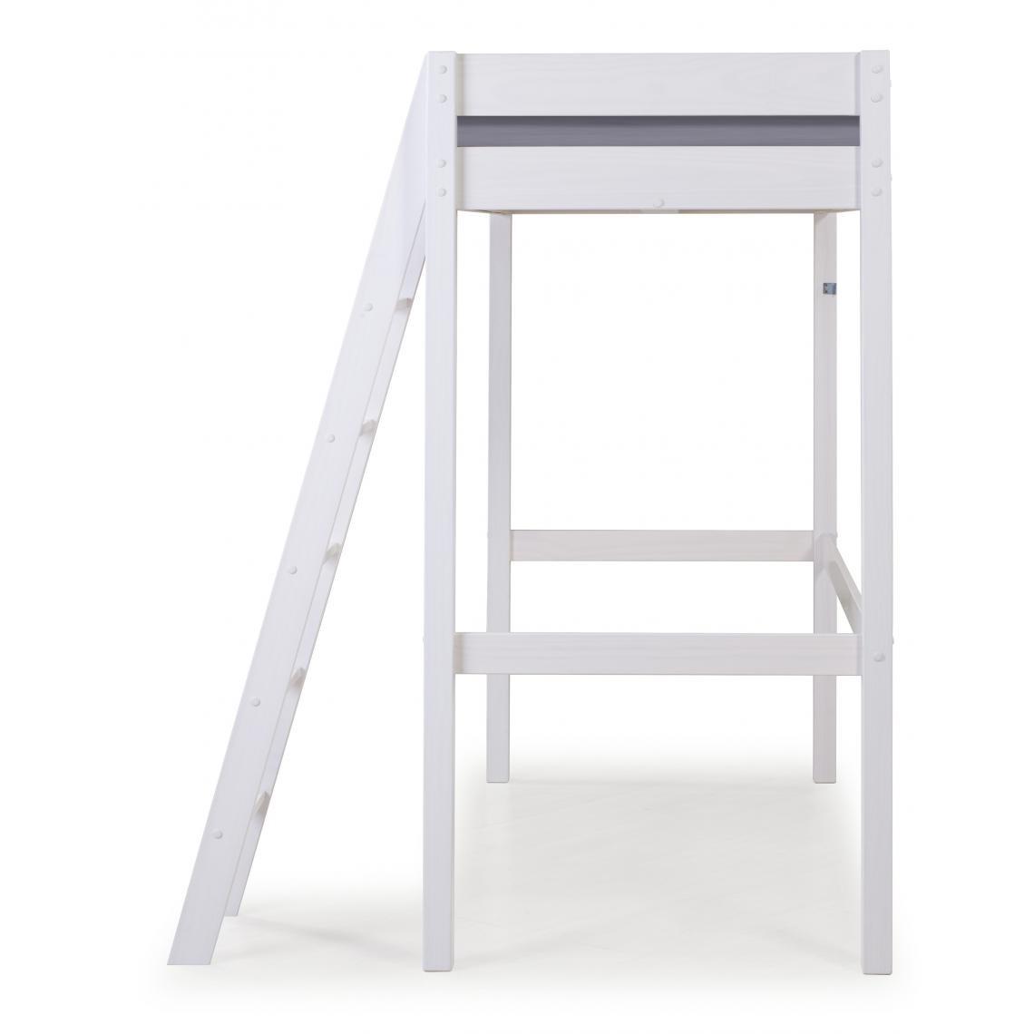 lit mezzanine star blanc 90x190 cm