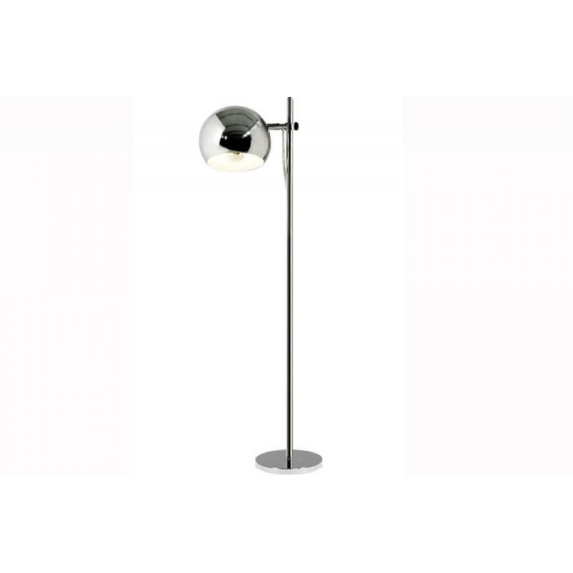 lampadaire design metal chrome cyclope