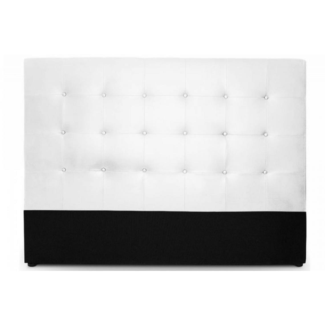 tete de lit capitonnee 180 cm cocoon blanc