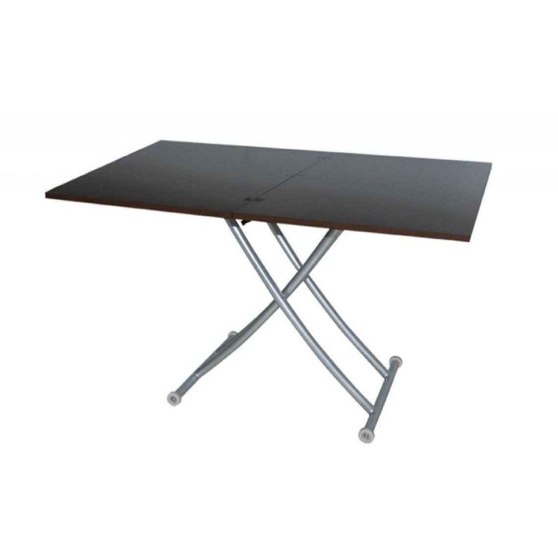 table basse relevable extensible wenge ella