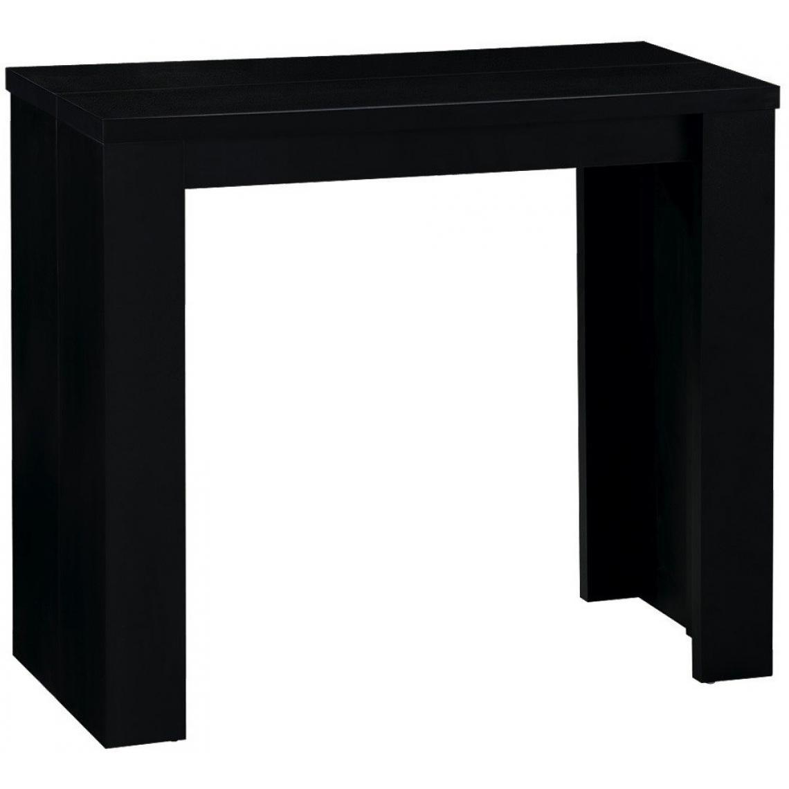 console extensible noire 190cm mat broadway