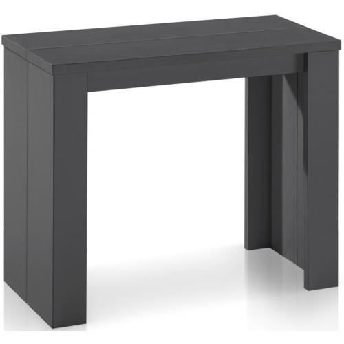 table console extensible gris vintage