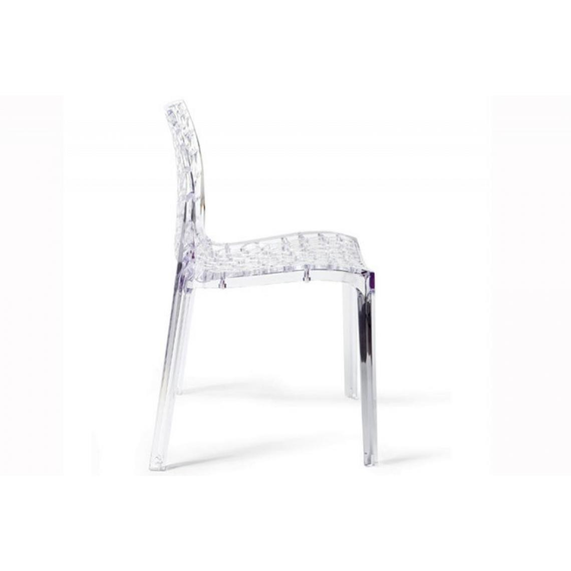 lot de 2 chaises transparentes gruyer
