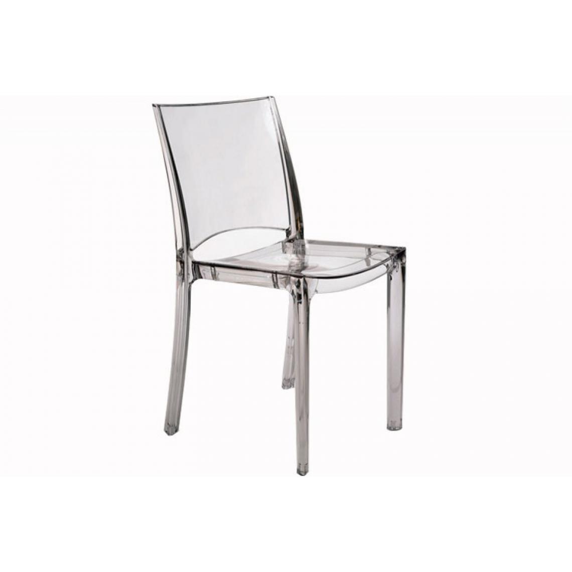 lot de 2 chaises transparentes nilo