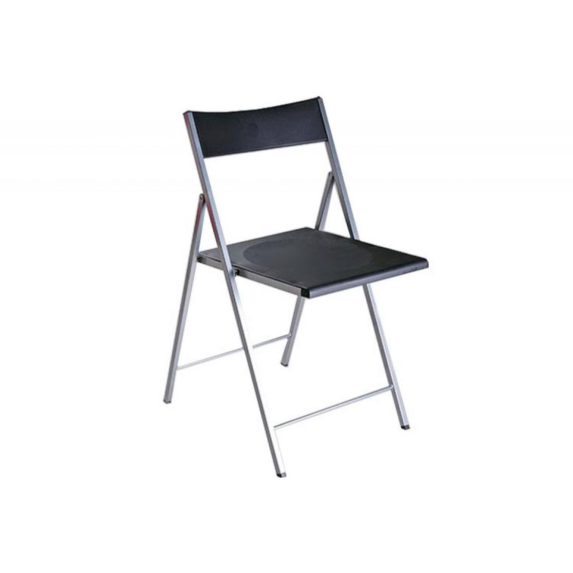 chaise pliante noire bilbao