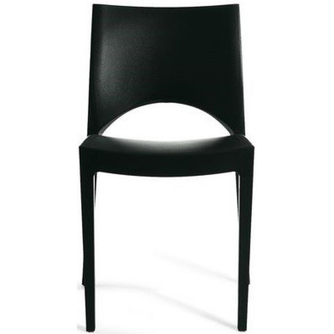 chaise design noire venise