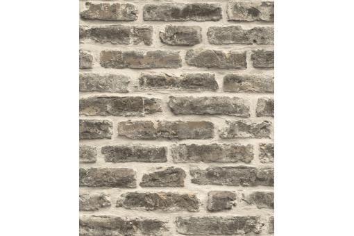 Papier Peint Style Trompe LOeil Mur De Briques Gris Fonc