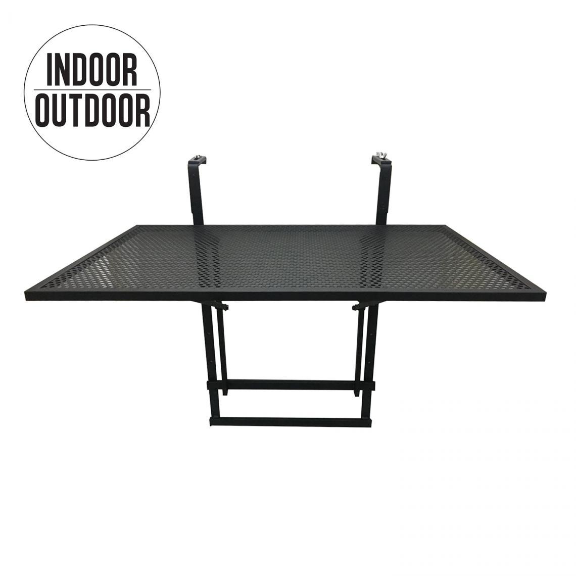 table de balcon pliable noir