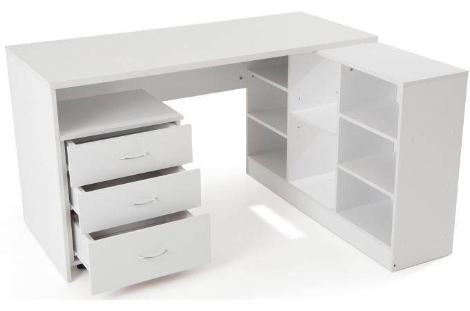 bureau en imitation bois blanc avec retour flash