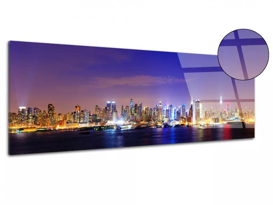 tableau photo panoramique mahanttan verre acrylique grand format