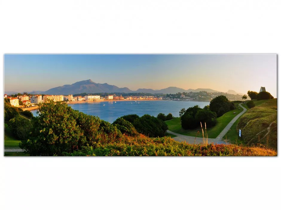 Tableau panoramique sur toile  Photographie du Pays Basque