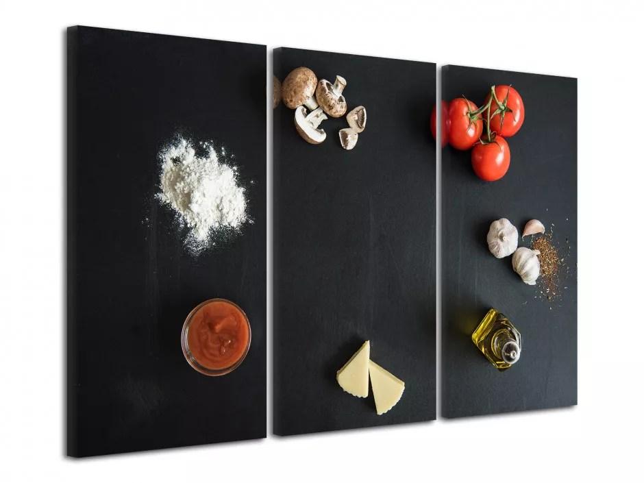 tableau triptyque moderne pour cuisine boutique de tableaux deco