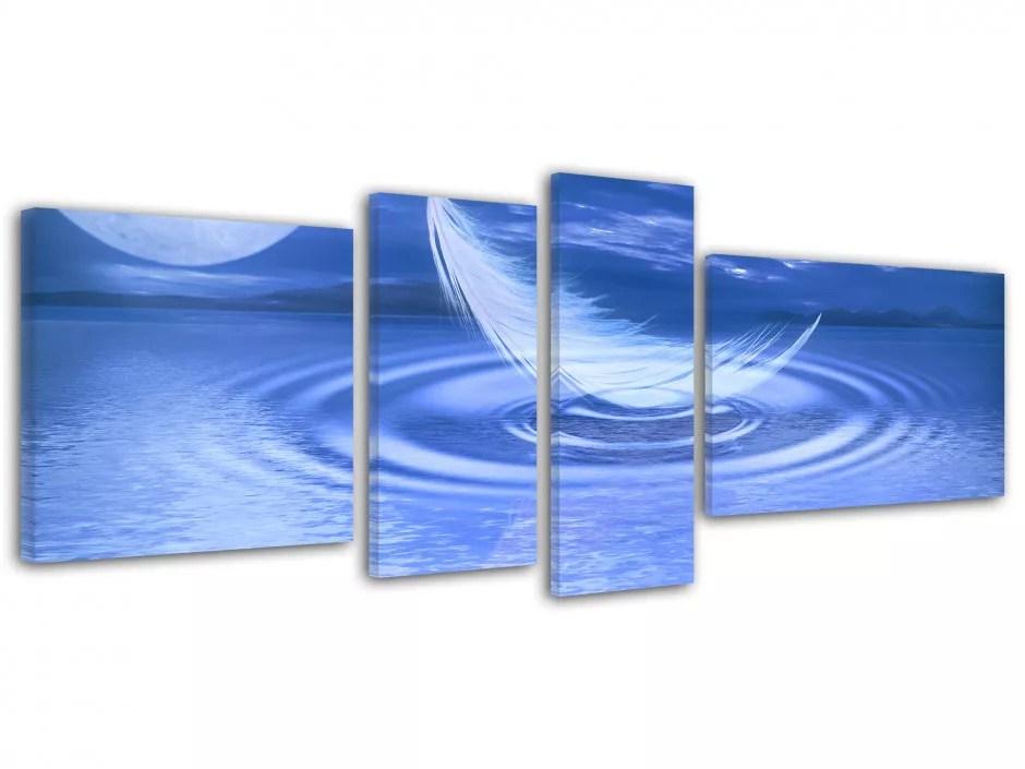 tableau deco plume ambiance zen toile imprimee cadre pas cher