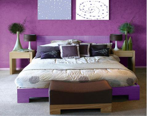 Associer la couleur violet dans la chambre le salon la cuisine