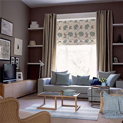 deco salon zen avec une declinaison de couleur taupe et gris pastel peinture couleur taupe