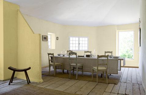Couleur peinture salle  manger ocre jaune taupe