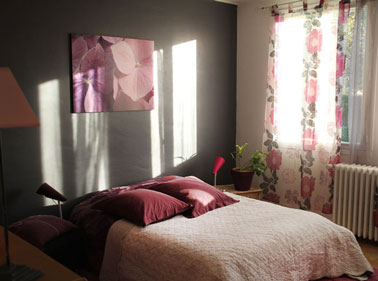 couleur chambre prune rose et taupe