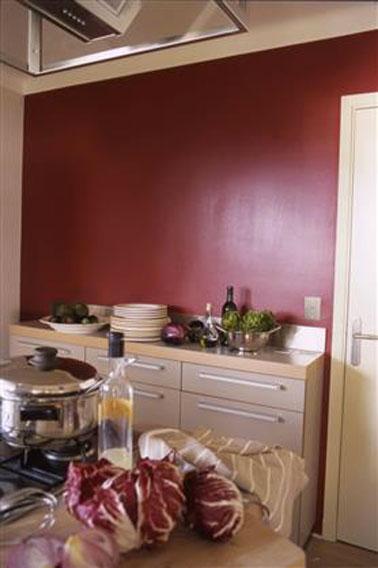 Couleur De Peinture Rouge Intense Pour Une Cuisine G N Reuse