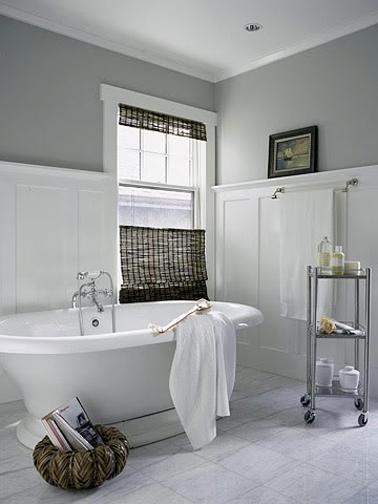 idees deco pour une salle de bain grise