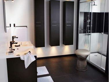 salle de bain noir et blanc c est la