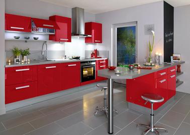 cuisine rouge et gris lapeyre