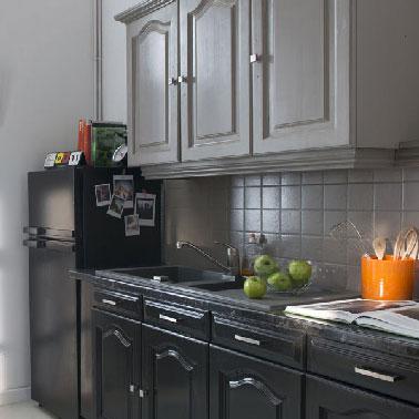 repeindre meuble cuisine rustique