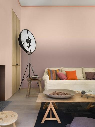 Peinture Murs Salon Beige Ros Doux Et Raffin