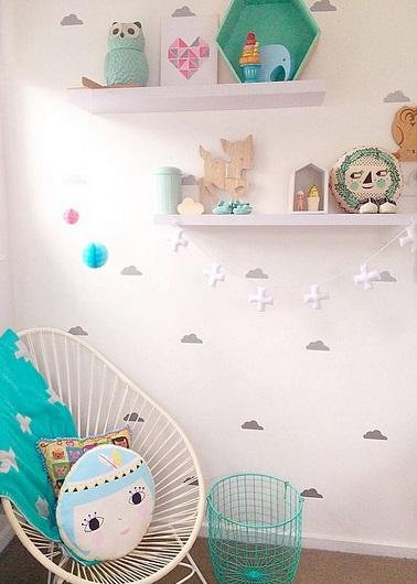 stickers nuage pour les doux reves de bebe dans sa chambre