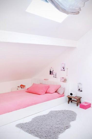 une chambre de fille rose le kitsh aux