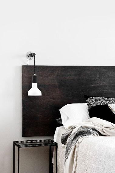 deco moderne et pas chere pour la chambre avec cette tete de lit a fabriquer avec