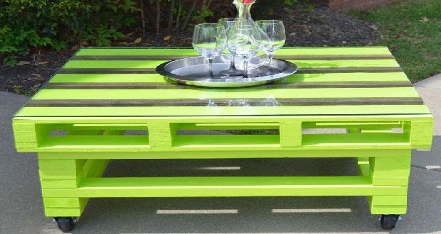 Table basse palette pour jardin et maison
