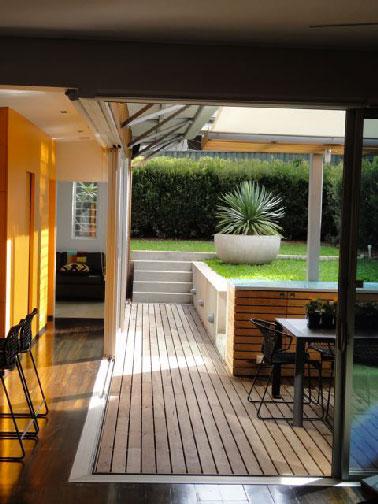 Petite Terrasse Bois Pour Accs La Cuisine Dt