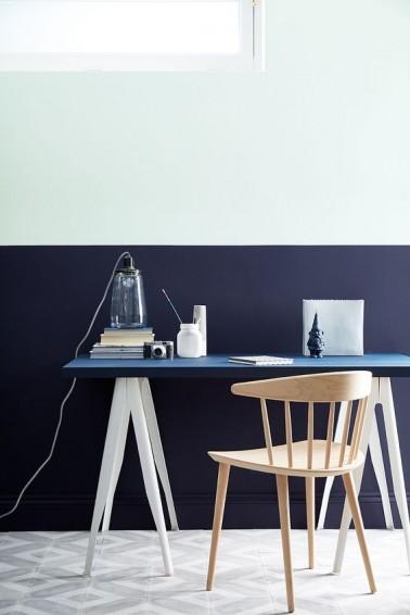 Peinture Bureau Couleur Bleu Et Blanc