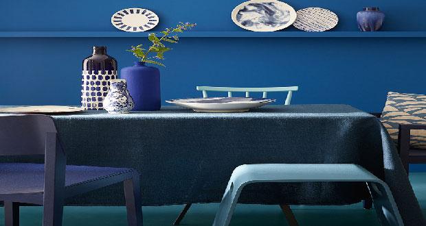 Peinture Bleu  21 nuances pour les murs avec Little Greene